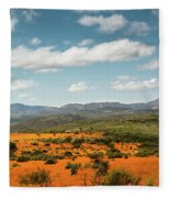 Daisies Blooming In Namaqualand 2 Fleece Blanket