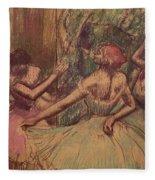 Dancers In The Wings Fleece Blanket