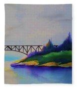 Deception Pass Bridge Fleece Blanket