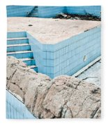Derelict Swimming Pool Fleece Blanket