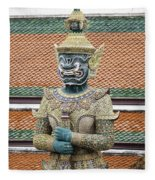 Detail From A Buddhist Temple In Bangkok Thailand Fleece Blanket