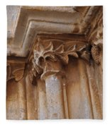 Detail Of The Medieval Portal Of Saint Marys Church In Tavira. Portugal Fleece Blanket