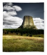 Devil's Tower - Wyoming Fleece Blanket