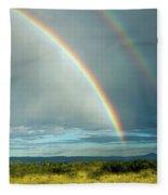 Double Rainbow Fleece Blanket