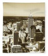 Downtown Indianapolis Fleece Blanket