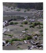 Driftwood On The Beach Fleece Blanket
