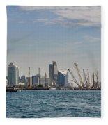 Dubai Creek And Abra Boats Fleece Blanket