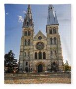 Eglise Notre - Dame En Vaux Fleece Blanket