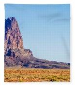 El Capitan Peak Just North Of Kayenta Arizona In Monument Valley Fleece Blanket