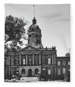 Elkhart County Courthouse - Goshen, Indiana Fleece Blanket