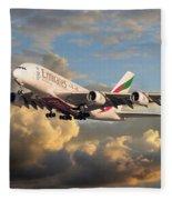 Emirates Airbus A380 Fleece Blanket