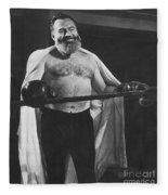 Ernest Hemingway Fleece Blanket