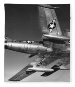 F-86 Jet Fighter Plane Fleece Blanket