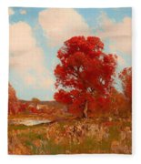 Fall Landscape Fleece Blanket