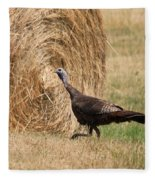 Female Eastern Wild Turkey Fleece Blanket