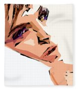 Female Expressions Xii Fleece Blanket