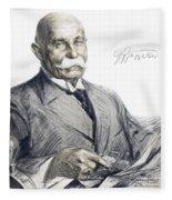 Ferdinand Von Zeppelin Fleece Blanket