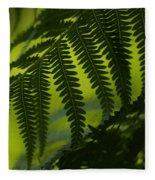 Fern Abstract Fleece Blanket