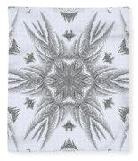 Fern Frost Mandala Fleece Blanket
