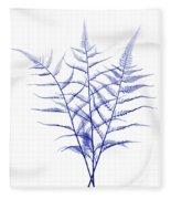 Fern, X-ray Fleece Blanket