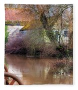 Fiddleford Mill - England Fleece Blanket