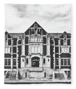 Fine Arts Building - Ball State University Fleece Blanket