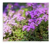 Flowering Thyme Fleece Blanket