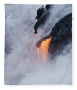 Flowing Pahoehoe Lava Fleece Blanket