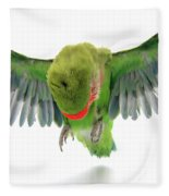 Flying Parrot  Fleece Blanket