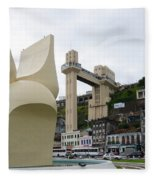 Fountain Of The Market Ramp By Mario Cravo Fleece Blanket