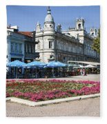 Freedom Square, Ruse, Bulgaria Fleece Blanket
