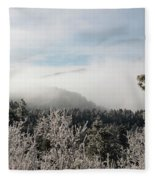 Frosty Pikes Peak Fleece Blanket