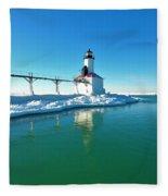 Frozen Lighthouse Fleece Blanket