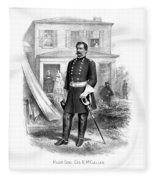 General George Mcclellan Fleece Blanket
