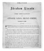 Gettysburg Address, 1863 Fleece Blanket