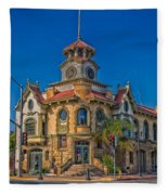 Gilroy's Old City Hall Fleece Blanket