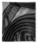 Glasgow Cathedral Bw Fleece Blanket