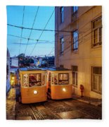 Gloria Funicular, Lisbon, Portugal Fleece Blanket