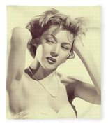 Gloria Grahame, Vintage Actress Fleece Blanket