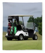 Golfing Golf Cart 04 Fleece Blanket