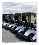Golfing Golf Carts Fleece Blanket