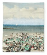 Gordon Beach, Tel Aviv, Israel Fleece Blanket