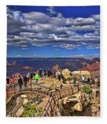 Grand Canyon #  4 - Mather Point Overlook Fleece Blanket