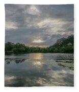 Granite Basin Lake Sunset Fleece Blanket