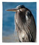 Great Blue Heron Fleece Blanket