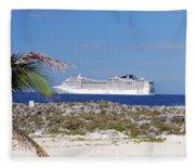 Great Stirrup Cay Fleece Blanket