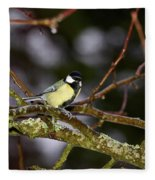 Great Tit Fleece Blanket