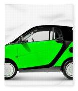 Green Mini Car Fleece Blanket