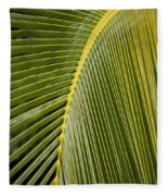 Green Palm Leaf Fleece Blanket