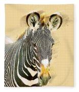 Grevys Zebra, Samburu, Kenya Fleece Blanket